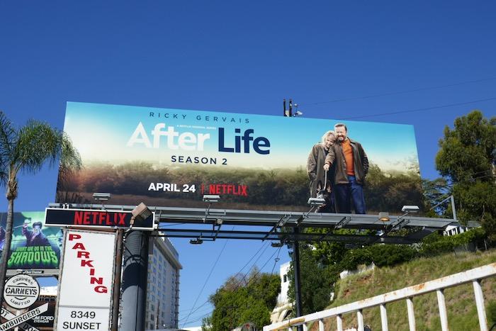 After Life season 2 billboard