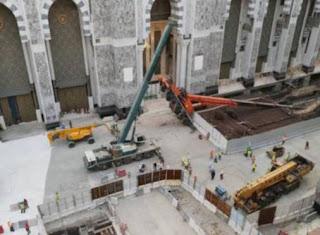 Kren Tumbang Dikawasan Pembinaan Masjidil Haram