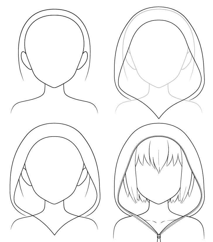 Gambar hoodie anime selangkah demi selangkah