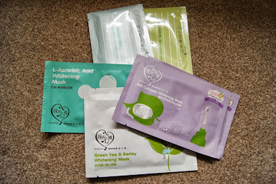 Korean/Asian skincare haul review brands my beauty diary hyaluronic acid apple polyphenol my scheming silk collagen green tea barley ascorbic acid sheet masks taiwan taiwanese