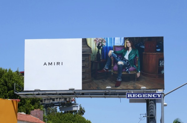 Amiri menswear Summer 2018 billboard