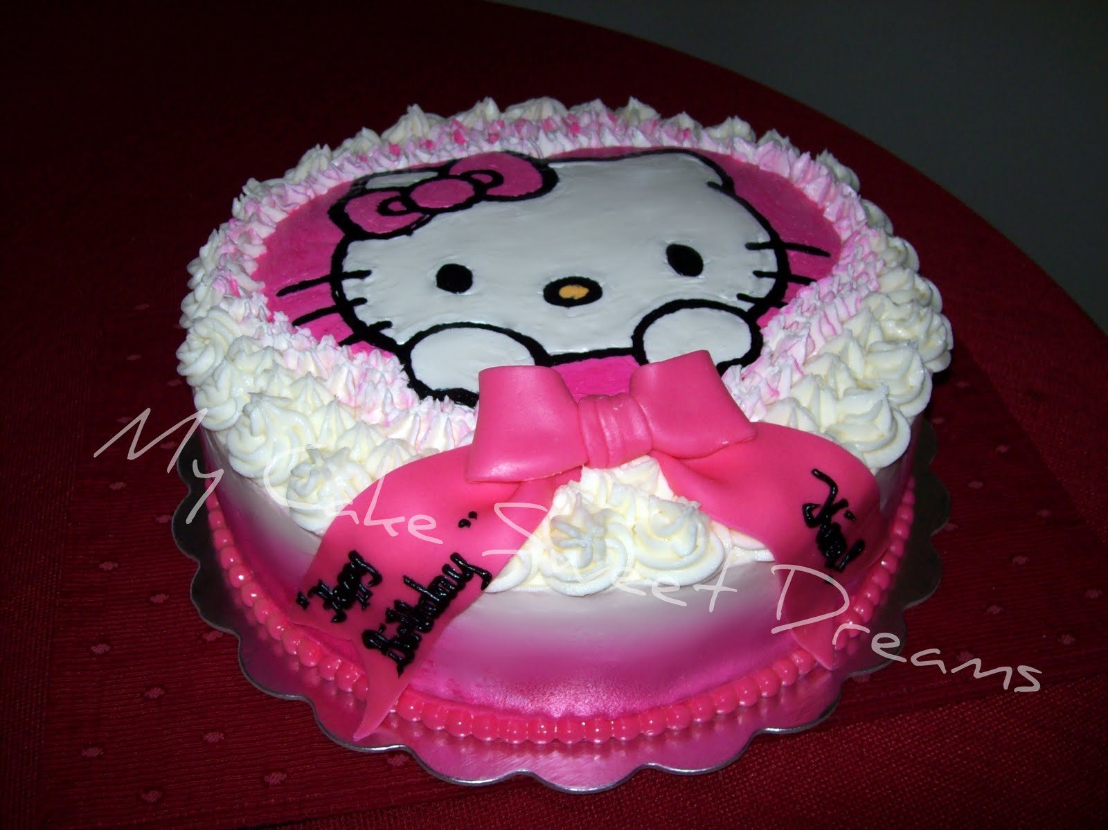 My Cake Sweet Dreams Hello Kitty Cake