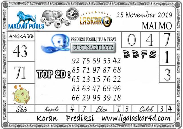 Prediksi Togel MALMO LASKAR4D 25 NOVEMBER 2019