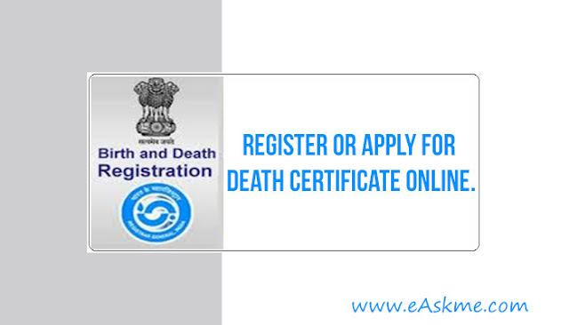 Register or Apply for a Death Certificate Online.: eAskme