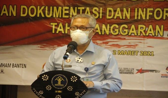 Kanwil Kemenkum HAM Banten Gelar Kegiatan Peningkatan Asistensi Penggunaan Layanan Informasi JDIH 2021
