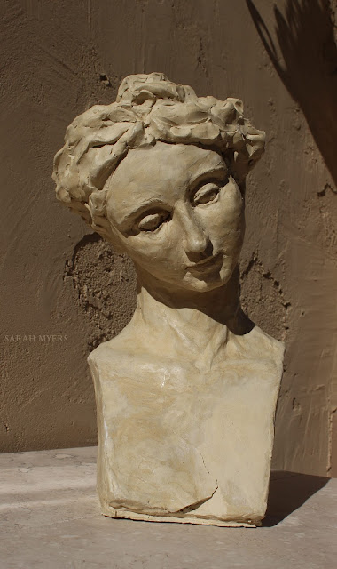 head, woman, sarah, myers, sculpture, art, contemporary, arte, escultura, modern, ceramic, ceramica, face, graceful, tranquil, tranquilo, modern, simple, crack, skulptur, kunst, large, life-sized, long, neck, tilted, design, figurative, front, frontal