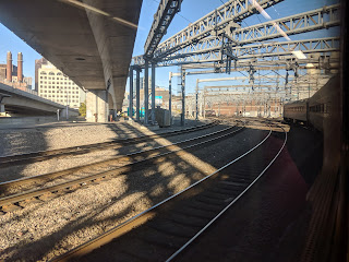 Approaching South Station