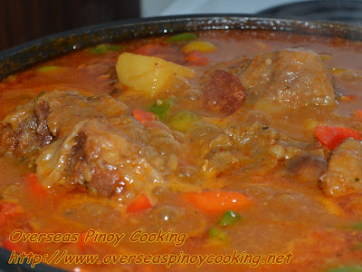 Oxtail Kaldereta - Cooking Procedure
