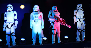 Stormtrooper costume displays at the Star Wars: The Force Awakens premiere after party.