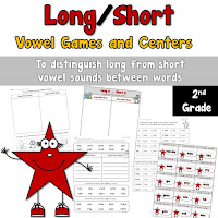 Long and Short Vowel Task Cards