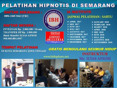 Jadwal Pelatihan Kursus Hipnotis Semarang Jawa Tengah 2017 2018