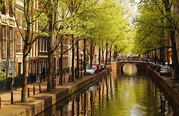 The canals of Amsterdam the main attraction of the Netherlands
