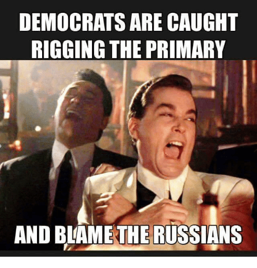 democrats are caught rigging the primary and blame the russians 3145999 the russians did it!\