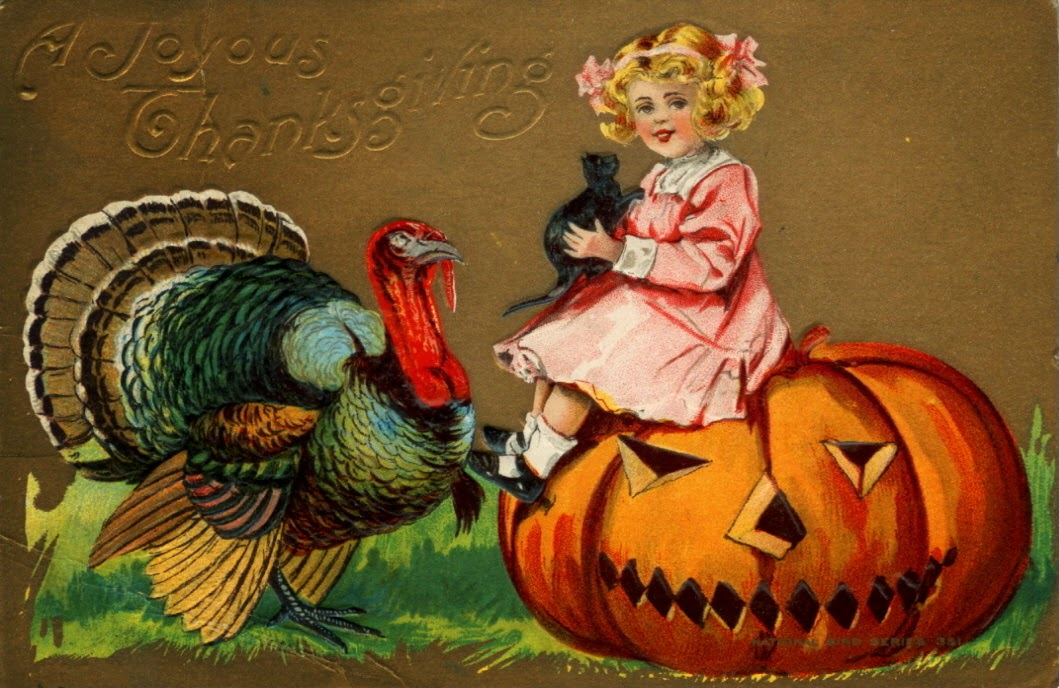 20 Funny and Cute Vintage Thanksgiving Postcards  vintage everyday