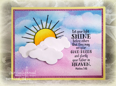 Our Daily Bread Designs Stamp sets: Hello Sunshine, ODBD Custom Dies: Clouds and Raindrops
