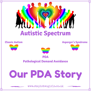 Our PDA Story badge graphic