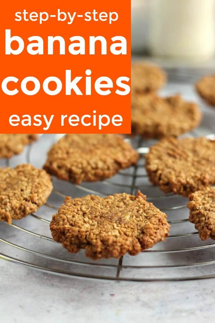 step by step banana cookies