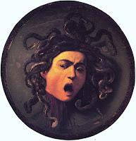Medusa by Michelangelo Merisi da Caravaggio circa 1597, in Prado Museum, Madrid