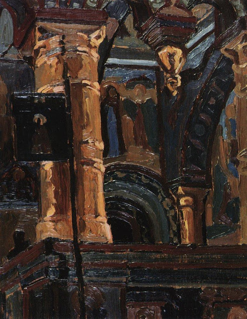 Николай Рерих - Ростов Великий. Церковь Спаса на Сенях. 1904