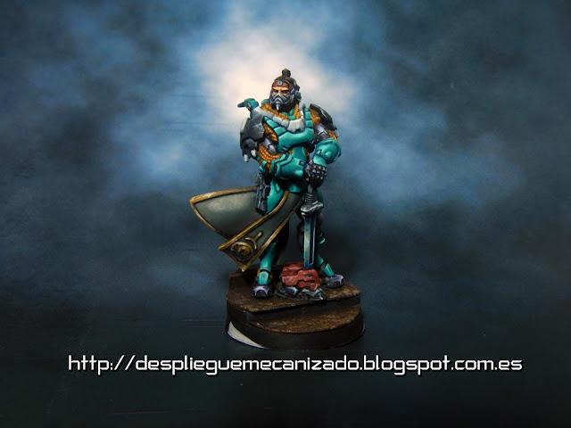 Imagen de un agente imperial rango grulla del juego Infinity