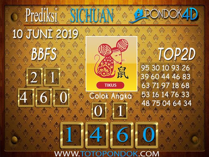 Prediksi Togel SICHUAN PONDOK4D 10 JUNI 2019