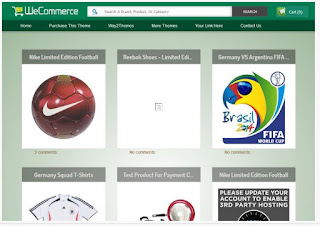 WeCommerce Responsive Blogger Template