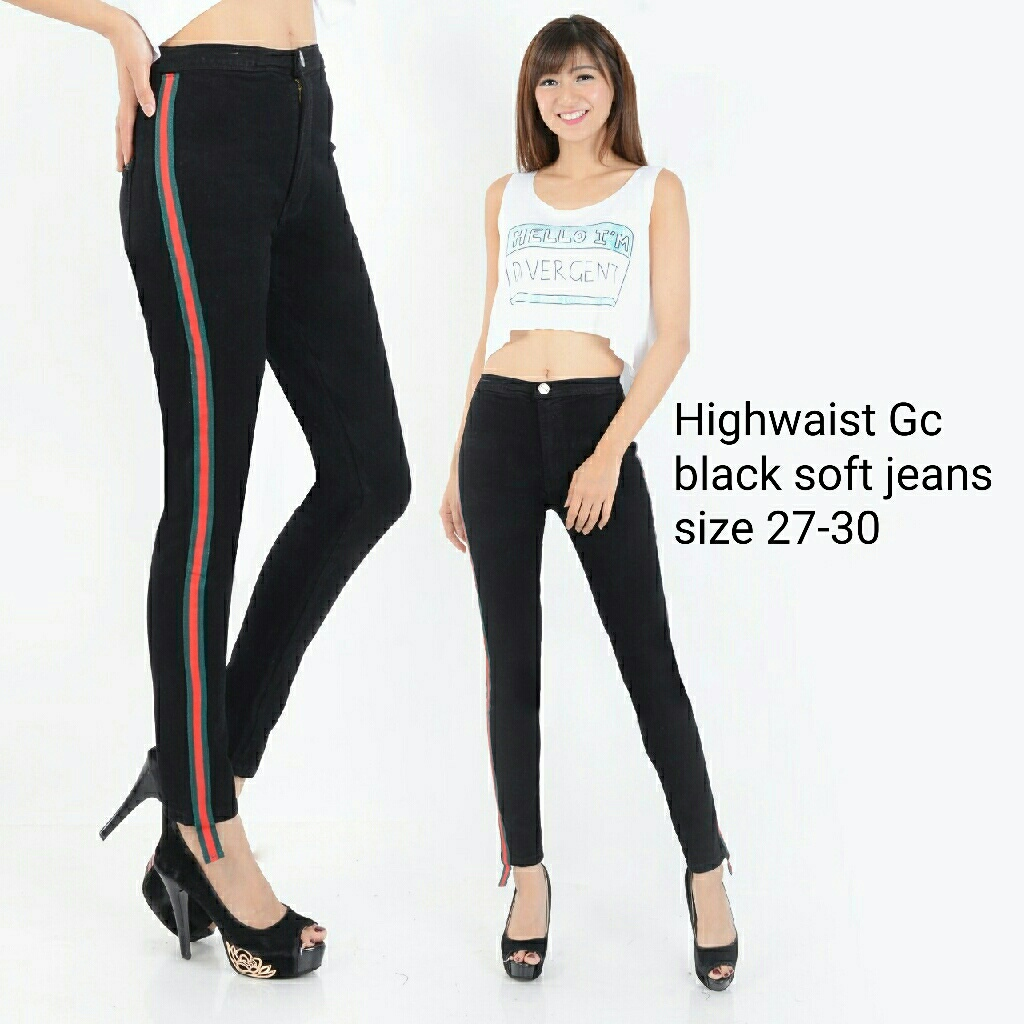 Highwaist Gc Black Soft Jeans