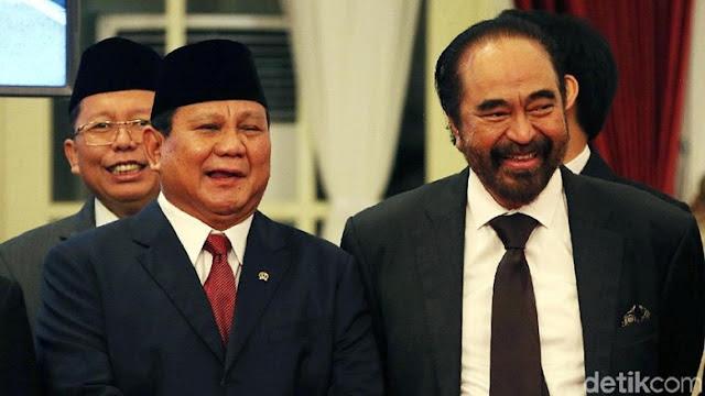 Teka-teki Obrolan Prabowo dengan Paloh