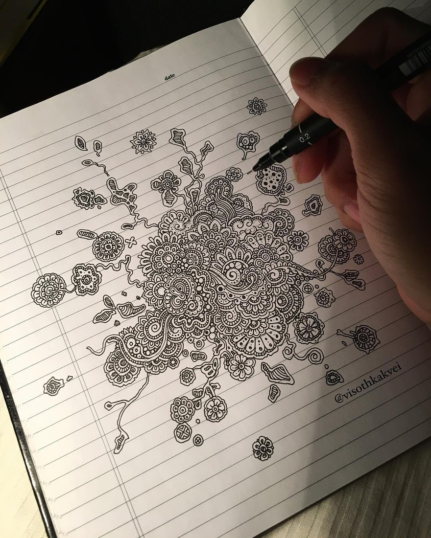 13-Doodles-Visoth-Kakvei-Intricate-Doodles-that-include-Optical-Illusions-www-designstack-co