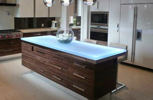 Kitchen Set Dengan Interior Countertops Kaca ~ Arsitektur Interior