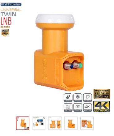 Starcom Universal LNB DVB S/S2 High Gain Low Noise 0.3db ku band Twin LNB Dish TV HD ku band LNBF for satellite receiver