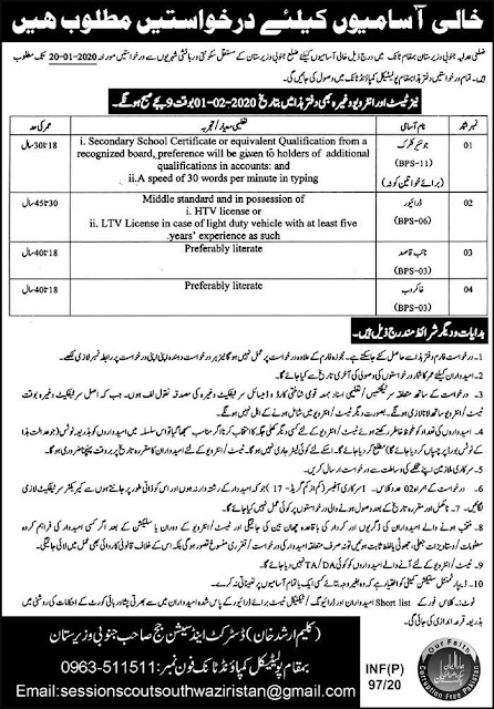 District Court Jobs for male and Female 2020