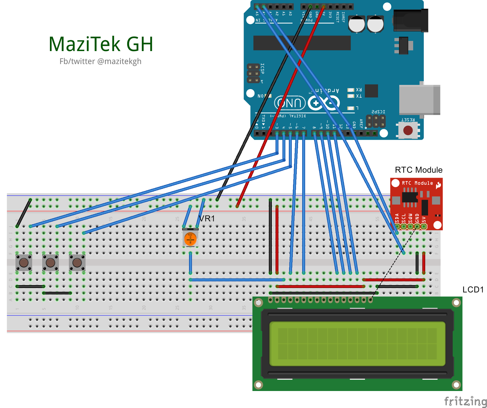 hight resolution of mazitek real time clock