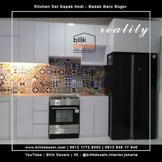 kitchenset putih minimalis kedung badak baru bogor