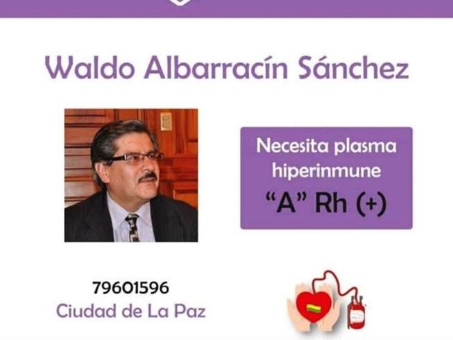 Albarracín tiene neumonía a causa del COVID-19 y hallan un donante de plasma hiperinmune