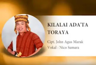 Lirik Lagu Kilalai Ada'ta Toraya (Nico Samara)