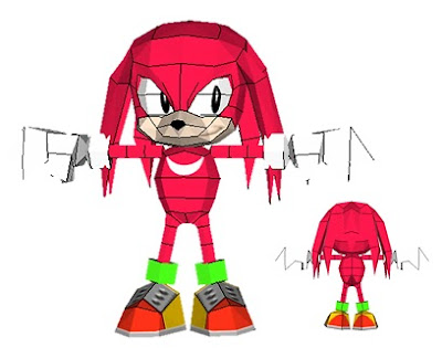Knuckles Classic papercraft