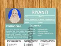 Contoh Desain Curriculum Vitae Keren by Riyanti Noto Model 1