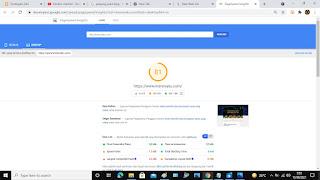 Laporan Analisa PageSpeed Insight