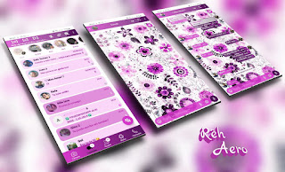 Flowers 8 Theme For YOWhatsApp & Aero WhatsApp By Reh