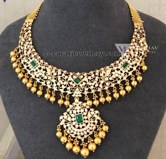 08ad8207ef57b Closed Setting Diamond Set by Vaibhav Jewellers - Jewellery Designs