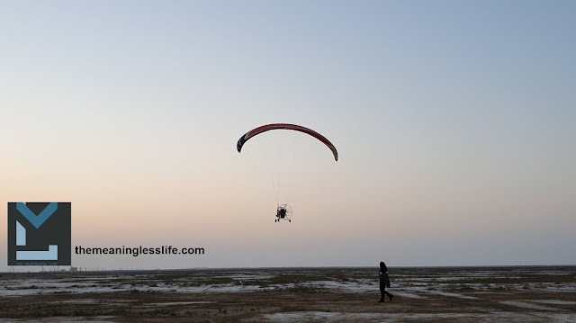 paramotoring at rann utsav