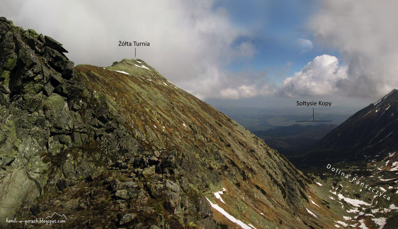 panorama z Żółtej Przełęczy