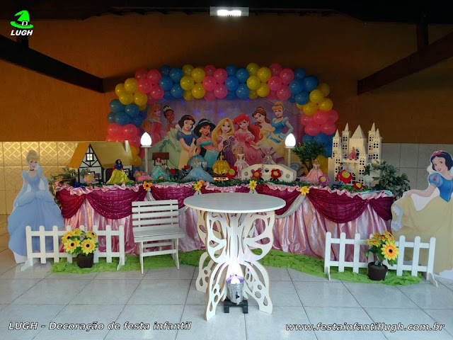 Decoração infantil Princesas Disney - Tradicional luxo