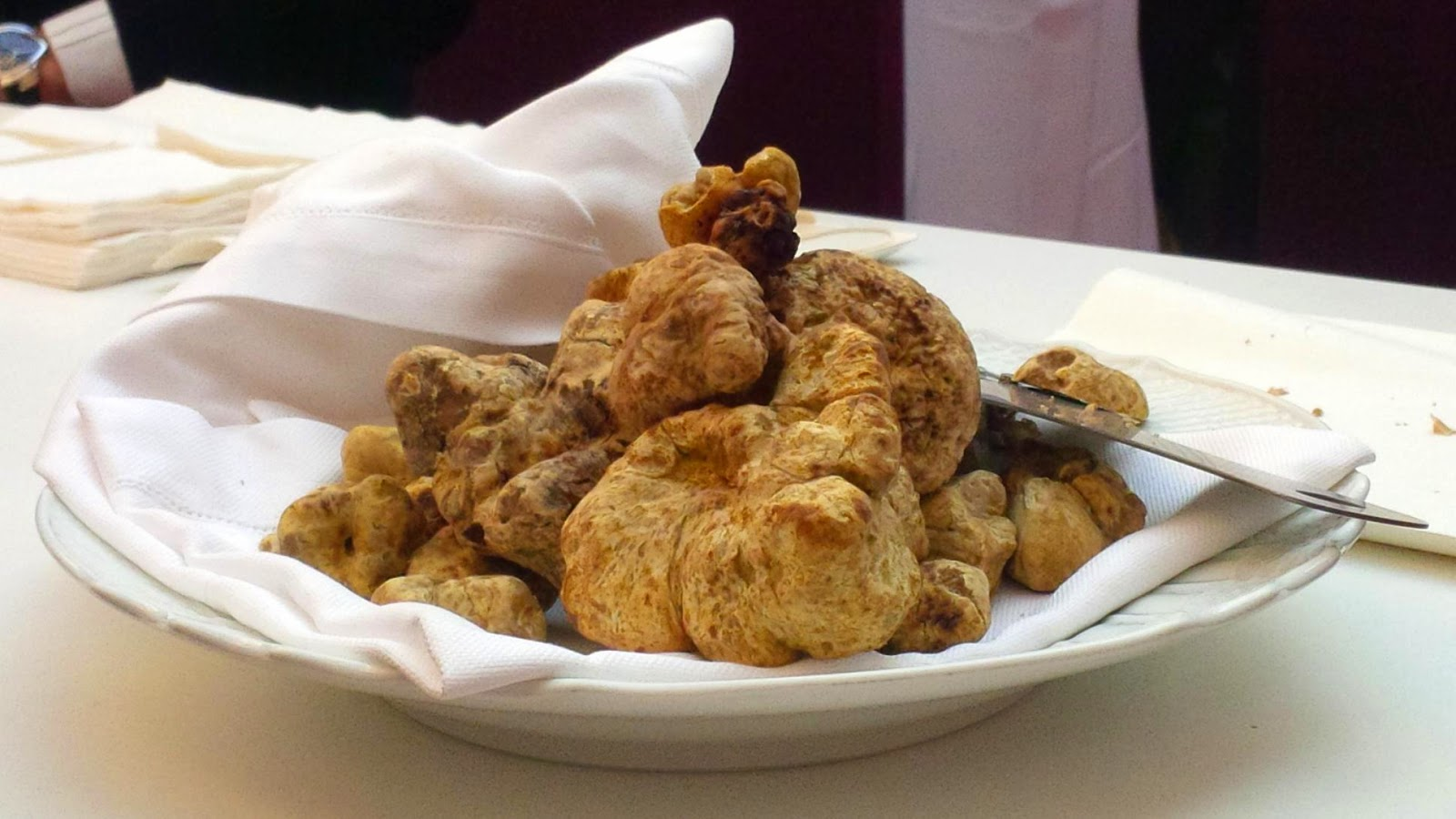 A plate of truffles at Taste of Christmas event in Verona