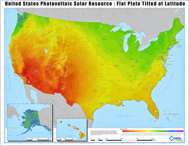 Solar potential heat map