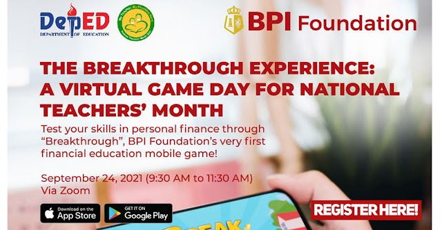 The Breakthrough Experience: A Virtual Game Day - National Teachers' Month | Register here!
