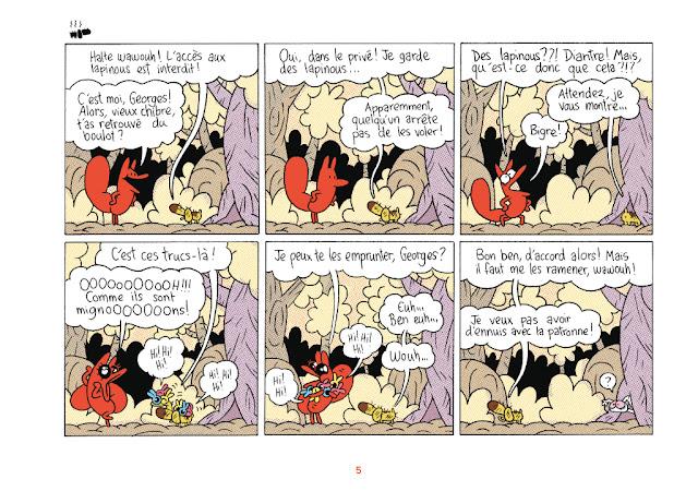 BD - humour - La Renarde tome 2 - Acharnement contre Georges qui garde les lapinous
