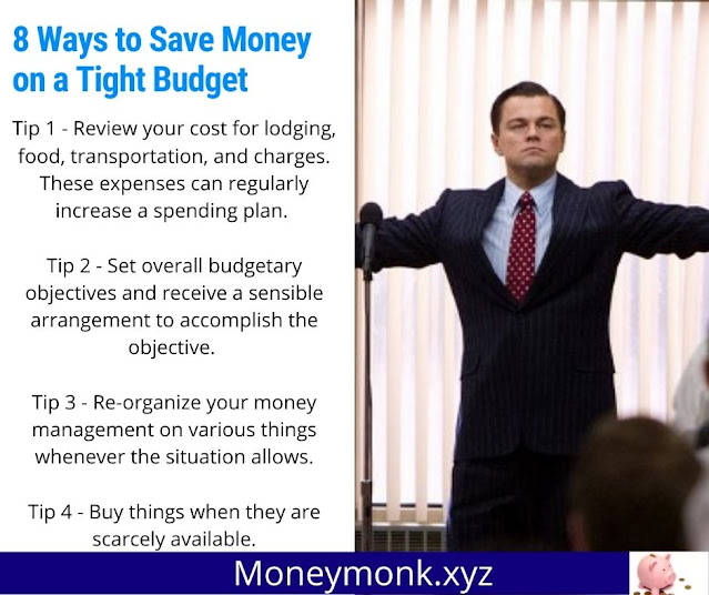 8 Easy ways to save money on a tight budget