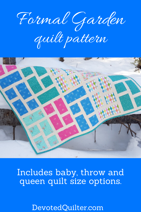 Formal Garden baby quilt pattern | DevotedQuilter.com